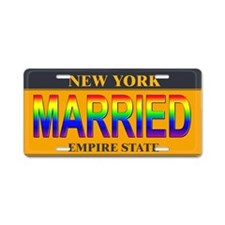 NY MARRIED Aluminum License Plate