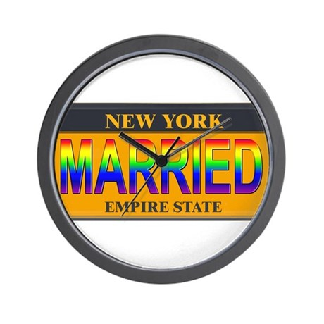 NY MARRIED Wall Clock