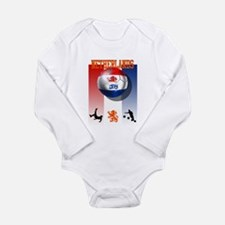 Netherlands Football Long Sleeve Infant Bodysuit