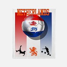 Netherlands Football Throw Blanket