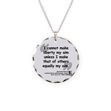 Bellow Goodness Quote Necklace Circle Charm