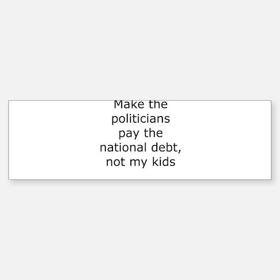 Cute National debt Sticker (Bumper)