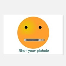 Shut Your Piehole Smiley Postcards (Package of 8)