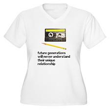 Cassette Tape Pencil Relation T-Shirt