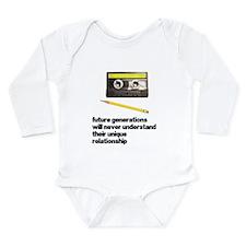 Cassette Tape Pencil Relation Long Sleeve Infant B