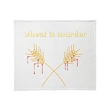 Wheat Is Murder Throw Blanket