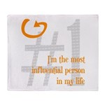 I'm Influential Throw Blanket