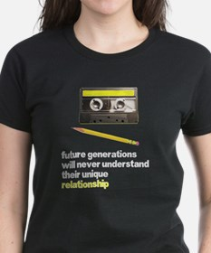Cassette Tape Pencil Relation Tee