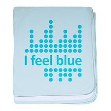 I Feel Blue baby blanket