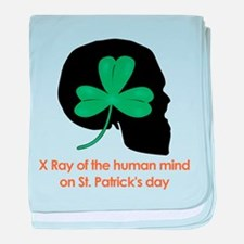 St Patrick's Ray baby blanket