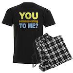 You Talking (Communicating) T Men's Dark Pajamas