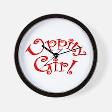 Uppity Girl Wall Clock