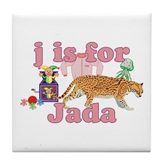 J is for Jada Tile Coaster