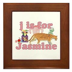 J is for Jasmine Framed Tile