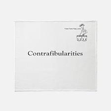 Contrafibularities Throw Blanket