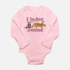 J is for Jenna Long Sleeve Infant Bodysuit