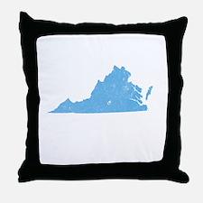 Vintage Grunge Baby Blue Blue Throw Pillow