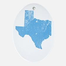 Vintage Grunge Baby Blue Blue Ornament (Oval)