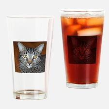 Tabby Cat Pint Glass