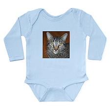 Tabby Cat Long Sleeve Infant Bodysuit