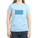 Vintage Grunge Baby Blue Blue Women's Light T-Shir