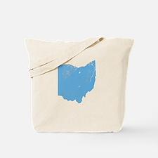 Vintage Grunge Baby Blue Blue Tote Bag
