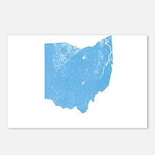 Vintage Grunge Baby Blue Blue Postcards (Package o