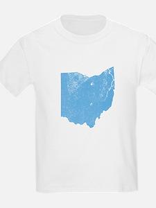 Vintage Grunge Baby Blue Blue T-Shirt