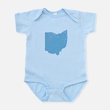 Vintage Grunge Baby Blue Blue Infant Bodysuit