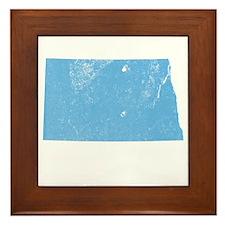 Vintage Grunge Baby Blue Blue Framed Tile