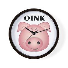 Cute Animals pig Wall Clock