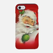 Vintage Christmas Santa Claus iPhone 7 Tough Case
