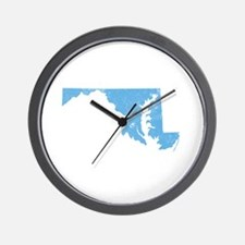Vintage Grunge Baby Blue Blue Wall Clock