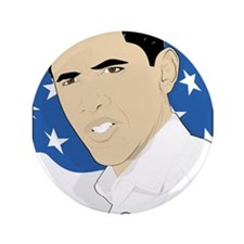 """Barack Obama 2011 3.5"""" Button"""