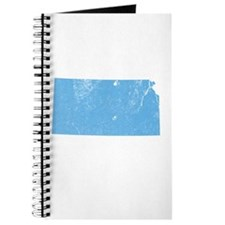 Vintage Grunge Baby Blue Blue Journal