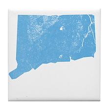 Vintage Grunge Baby Blue Blue Tile Coaster