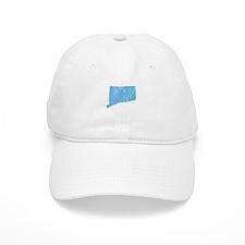 Vintage Grunge Baby Blue Blue Baseball Cap