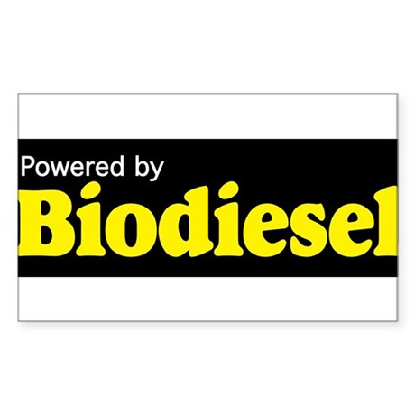 Powered by Biodiesel Sticker (Rectangle)