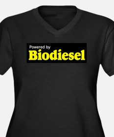 Powered by Biodiesel Women's Plus Size V-Neck Dark