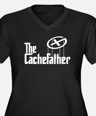 Geocaching THE CACHEFATHER Women's Plus Size V-Nec