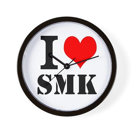 I ≪3 SMK Wall Clock