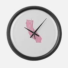 Vintage Grunge Pink California Large Wall Clock