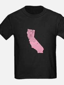 Vintage Grunge Pink California T