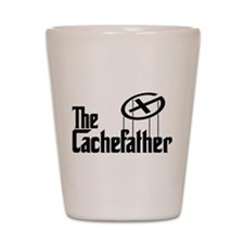 Geocaching THE CACHEFATHER black Shot Glass