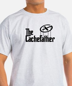 Geocaching THE CACHEFATHER black T-Shirt