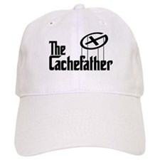 Geocaching THE CACHEFATHER black Baseball Cap
