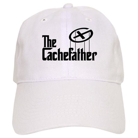Geocaching THE CACHEFATHER black Cap