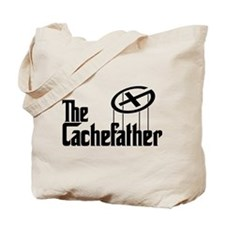 Geocaching THE CACHEFATHER black Tote Bag