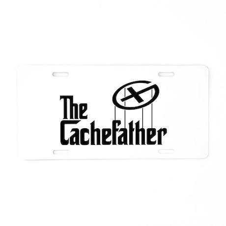 Geocaching THE CACHEFATHER black Aluminum License