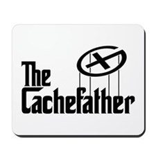 Geocaching THE CACHEFATHER black Mousepad